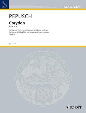 Corydon Johann Christoph Pepusch Partition Flûte à bec - laflutedepan
