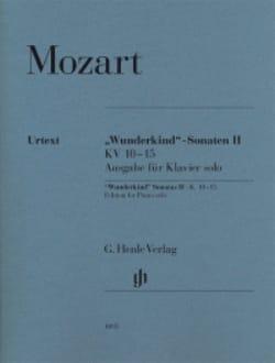 MOZART - Sonates Wunderkind Volume 2 - KV 10-15 - Partition - di-arezzo.fr