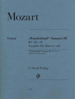 MOZART - Sonates Wunderkind Volume 3 - KV 26-31 - Partition - di-arezzo.fr
