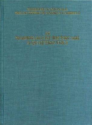 Madrigali et Ricercari a Quattro voci vol. 14 relié laflutedepan