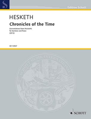 Kenneth Hesketh - Chronicles of the Time - Partition - di-arezzo.fr