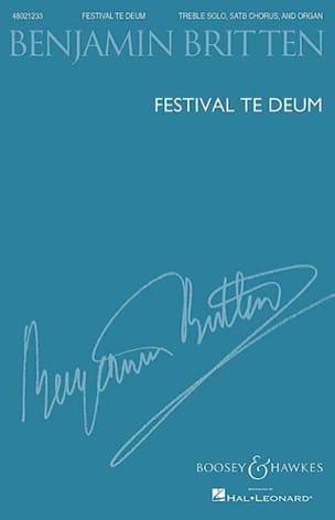 Benjamin Britten - Festival Te Deum, op. 32 - Partition - di-arezzo.fr