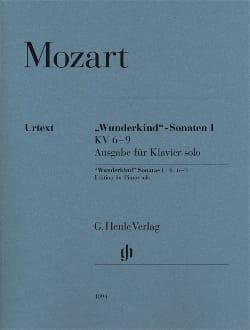 MOZART - Sonates Wunderkind Volume 1- KV 6-9 - Partition - di-arezzo.fr