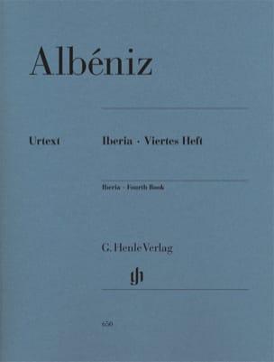 Iberia - Quatrième cahier ALBENIZ Partition Piano - laflutedepan