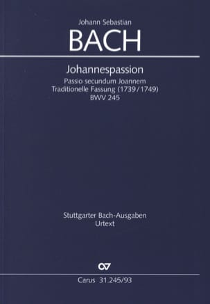 BACH - Passion According to Saint John BWV 245 - Sheet Music - di-arezzo.com