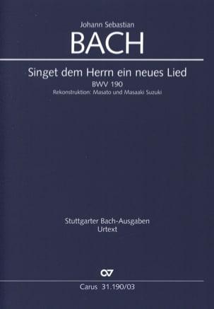 Cantate 190 Singet dem Herrn ein neues Lied BWV 190 - laflutedepan.com