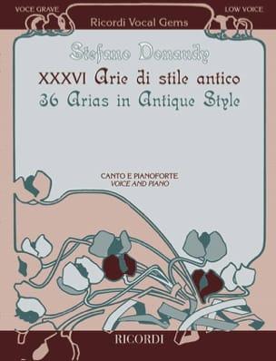 36 Arie di stile antico. Low voice Stefano Donaudy laflutedepan