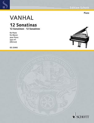 Johann Baptist Vanhal - 12 easy and progressive sonatins Opus 41 - Sheet Music - di-arezzo.co.uk
