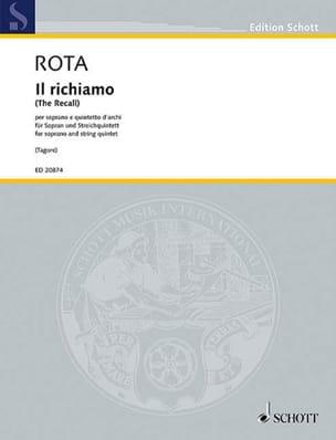 Nino Rota - Il richiamo - Partition - di-arezzo.fr