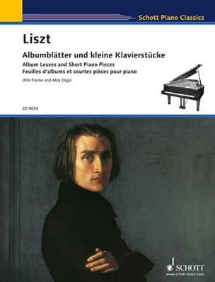Feuilles d'album et pièces courtes pour piano LISZT laflutedepan