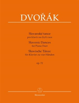 Anton Dvorak - Danses Slaves op. 72. 4 mains - Partition - di-arezzo.fr