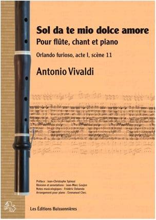 Antonio Vivaldi - Sol da te, mio dolce amore - Partition - di-arezzo.fr