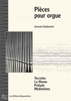 Six pièces pour orgue - Germain Desbonnet - laflutedepan.com