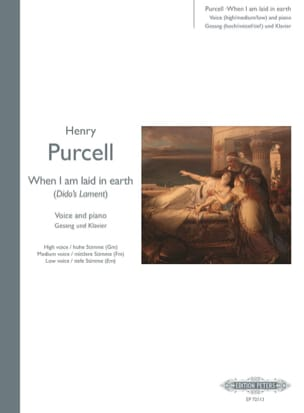 Henry Purcell - When I Am Laid In Earth. Didon et Enée - Partition - di-arezzo.fr