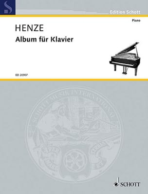 Album pour piano Hans Werner Henze Partition Piano - laflutedepan