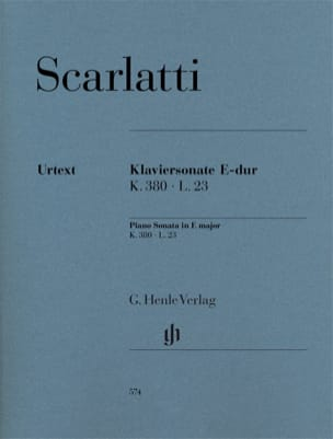 Domenico Scarlatti - Piano Sonata in E major K380, L23 - Sheet Music - di-arezzo.co.uk
