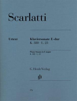 Sonate pour piano en Mi majeur K380, L23 SCARLATTI laflutedepan