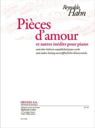 Reynaldo Hahn - Pièces d'amour et autres inédits pour piano - Partition - di-arezzo.fr