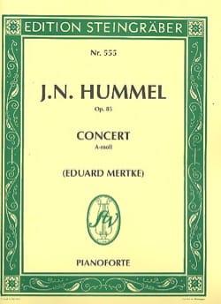 Concerto en la mineur Op. 85 - HUMMEL - Partition - laflutedepan.com