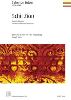 Salomon Sulzer - Schir Zion. Volume 1 - Partition - di-arezzo.fr