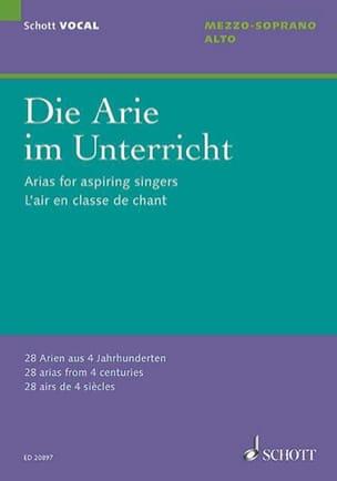 - Die Arie im Unterricht. Mezzo-soprano - Alto - Partition - di-arezzo.fr