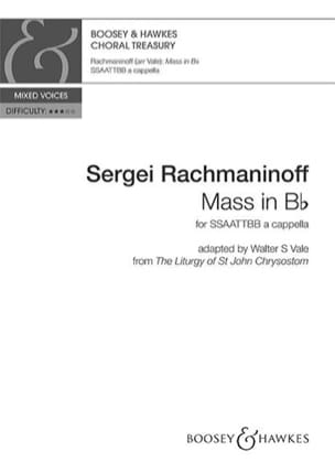 Messe en si bémol majeur - RACHMANINOV - Partition - laflutedepan.com