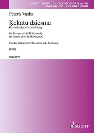 Peteris Vasks - Kekatu dziesma - Sheet Music - di-arezzo.com