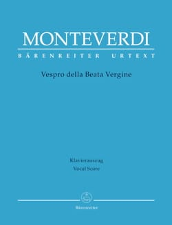 Claudio Monteverdi - Vespers of the Virgin Mary - Sheet Music - di-arezzo.co.uk