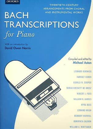 Bach Transcriptions for Piano BACH / ASTON Partition laflutedepan