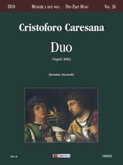 Duo Napoli 1681 Cristoforo Caresana Partition Duos - laflutedepan