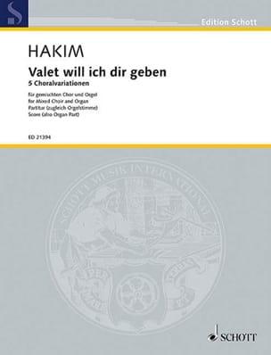 Naji Hakim - Valet will ich dir geben - Partition - di-arezzo.fr