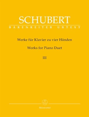 SCHUBERT - Works for piano four hands. Volume 3 - Sheet Music - di-arezzo.com