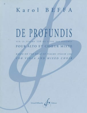 Karol Beffa - From profundis, on the palm 130 - Sheet Music - di-arezzo.co.uk
