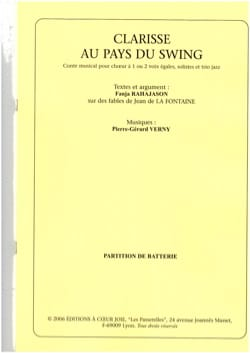 Pierre-Gérard Verny - Clarisse in the land of swing - Batterie - Sheet Music - di-arezzo.co.uk