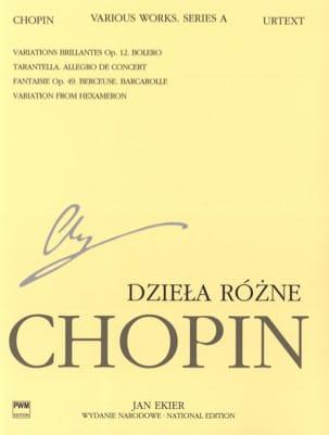Frédéric Chopin - Pièces variées (Série A) - Partition - di-arezzo.fr