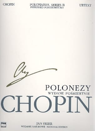 Polonaises posthumes Série B CHOPIN Partition Piano - laflutedepan