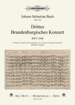 BACH - 3 ° Brandenburg concerto BWV 1048 - Sheet Music - di-arezzo.co.uk
