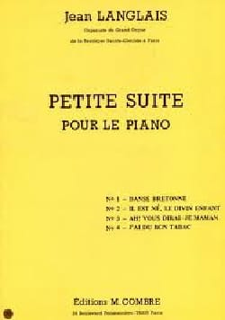 Jean Langlais - Small suite for piano - Sheet Music - di-arezzo.co.uk