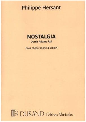 Philippe Hersant - Nostalgia - Partition - di-arezzo.fr