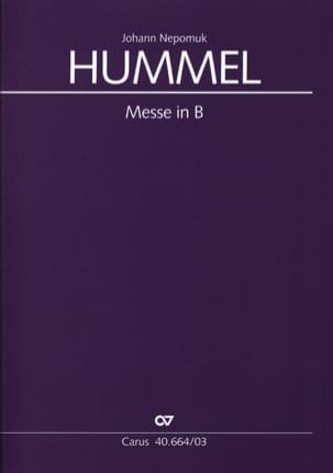 Messe en si bémol majeur Bertold Hummel Partition Chœur - laflutedepan