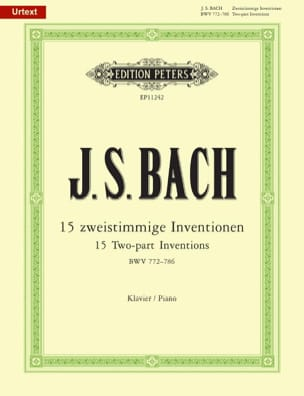 BACH - Inventions à 2 voix. BWV 772 - 786. - Partition - di-arezzo.fr