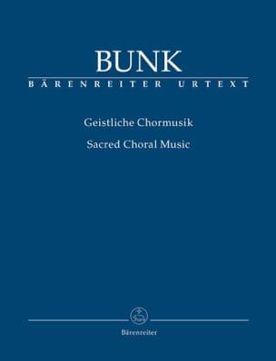 Gerard Bunk - Geistliche Chormmusik - Partition - di-arezzo.fr