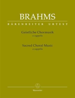 BRAHMS - Geistliche Chormusik a cappella - Partition - di-arezzo.fr