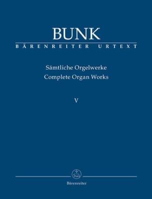 Sämtliche Orgelwerke Volume 5 Gerard Bunk Partition laflutedepan