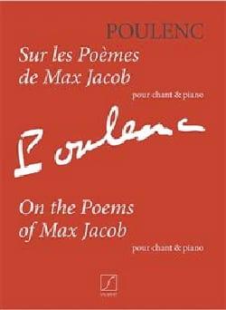 Sur les poèmes de Max Jacob POULENC Partition Mélodies - laflutedepan