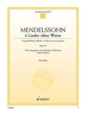 6 romances sans paroles - MENDELSSOHN - Partition - laflutedepan.com
