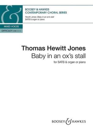 Baby in an ox's stall. SATB Jones Thomas Hewitt Partition laflutedepan