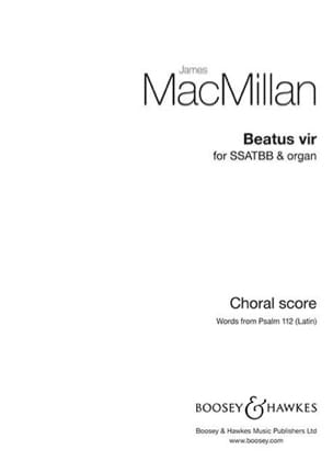 James Macmillan - Beatus vir - Partition - di-arezzo.fr