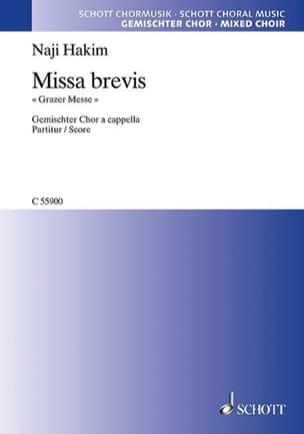 Missa Brevis Grazer Messe Naji Hakim Partition Chœur - laflutedepan