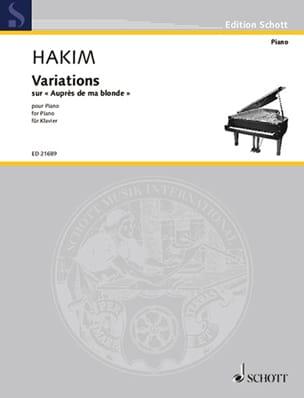 Variations sur au près de ma blonde - Naji Hakim - laflutedepan.com